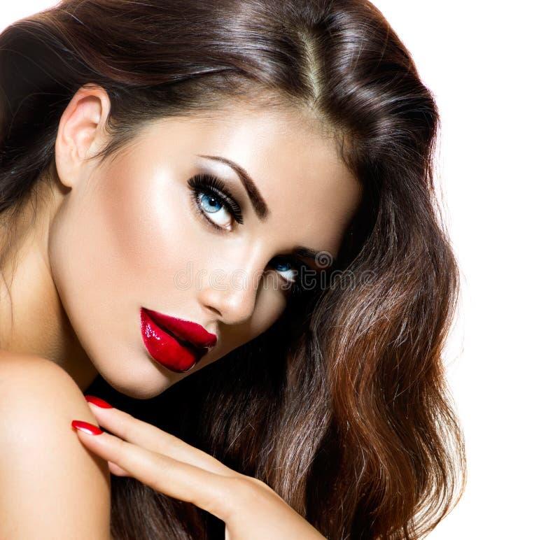 Sexy Schönheits-Mädchen stockbild