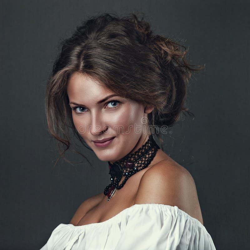 Sexy schoonheid Vrouwelijk portret stock foto's