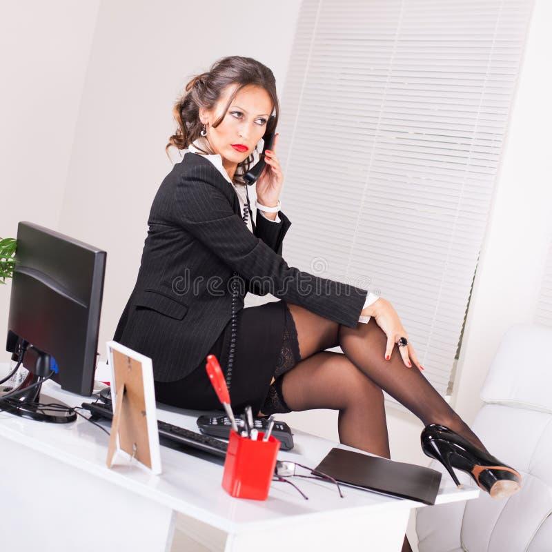 Sexy secretaresse royalty-vrije stock afbeelding