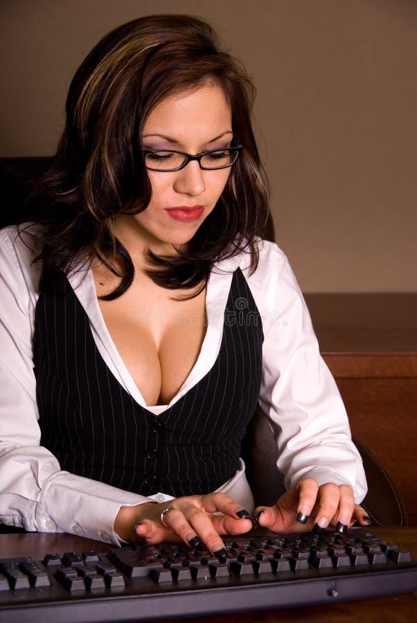 Sexy secretaresse. royalty-vrije stock afbeelding