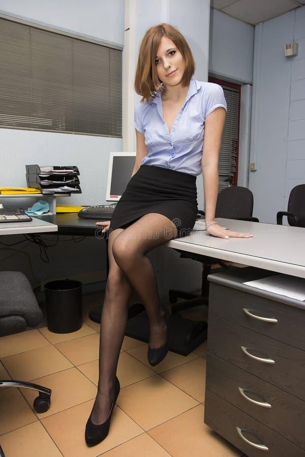 Sexy Sekretär stockbild. Bild von blau, arme, erwachsener - 36947811