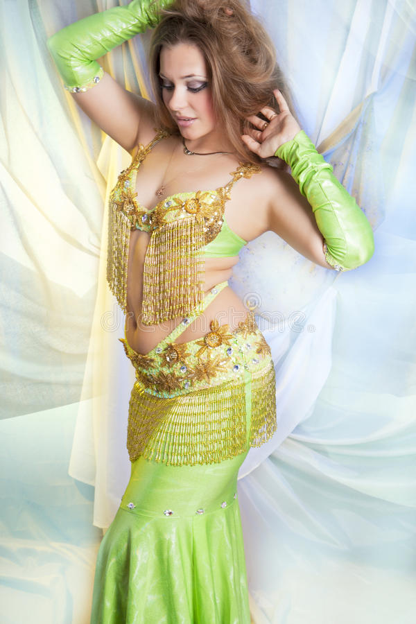 shaped belly dancer royalty free stock photos