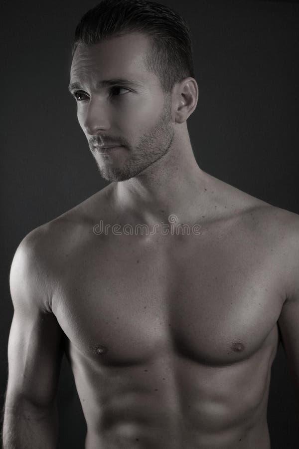 Sexy Shirtless Mens stock afbeeldingen
