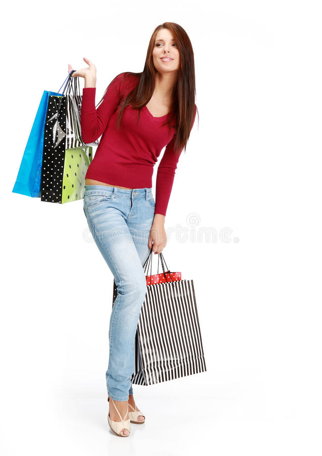 Download Shopping girl stock image. Image of girl, pretty, woman - 12401925