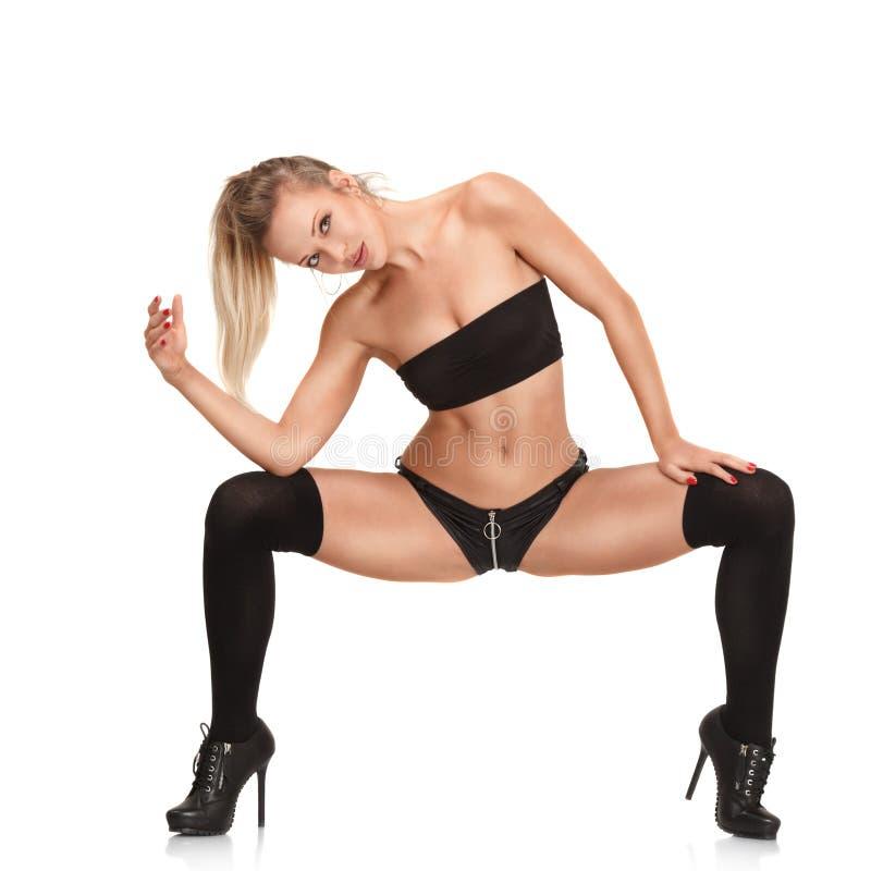 Sexy showgirl royalty-vrije stock foto