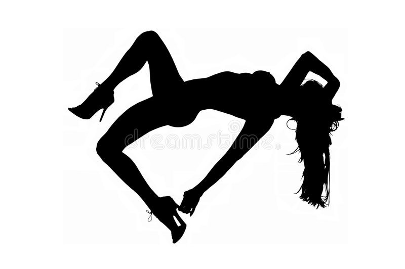 Sexy silhouet stock illustratie