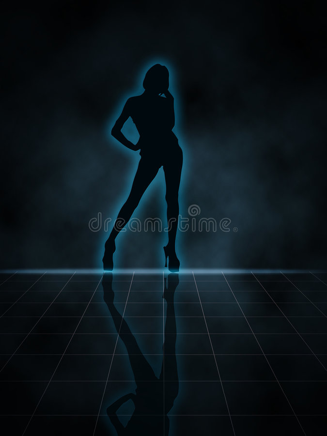 Download Silhouette stock illustration. Image of foot, moving, lady - 5494449