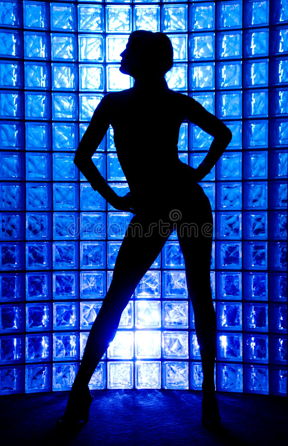 Download Silhouette stock image. Image of wall, girl, backlight - 6328313