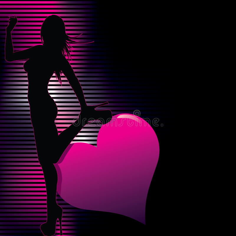 silhouette with abstract background royalty free illustration
