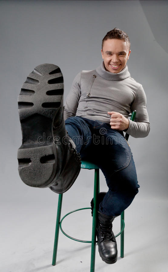 Download Smiling Fit And Neat Young Man In Studio Play Stock Photo - Image of male, smile: 23786212