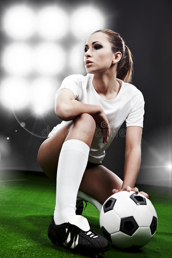 Download Soccer player, stock photo. Image of attack, grey, activity - 12829308