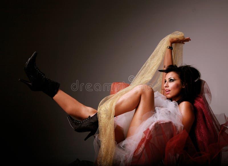 Sexy Spaanse Vrouw royalty-vrije stock afbeelding