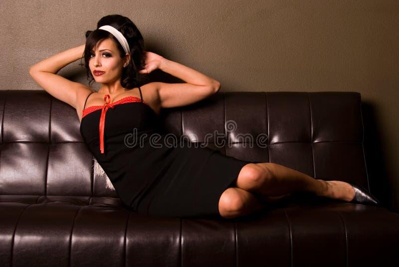 Sexy speld-Omhooggaand meisje. stock afbeelding
