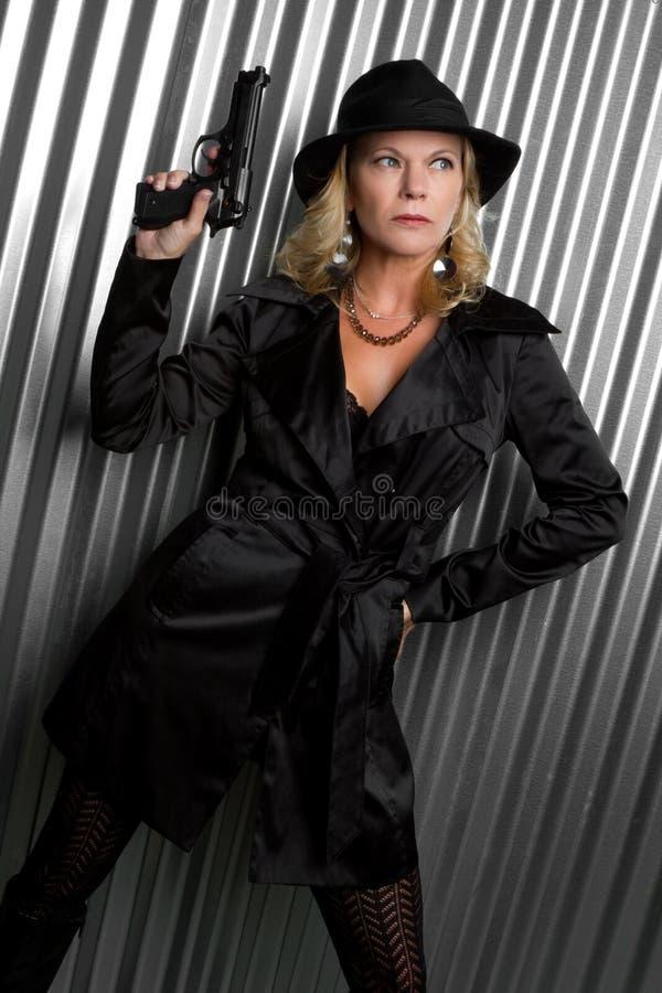 Sexy Spion royalty-vrije stock afbeelding