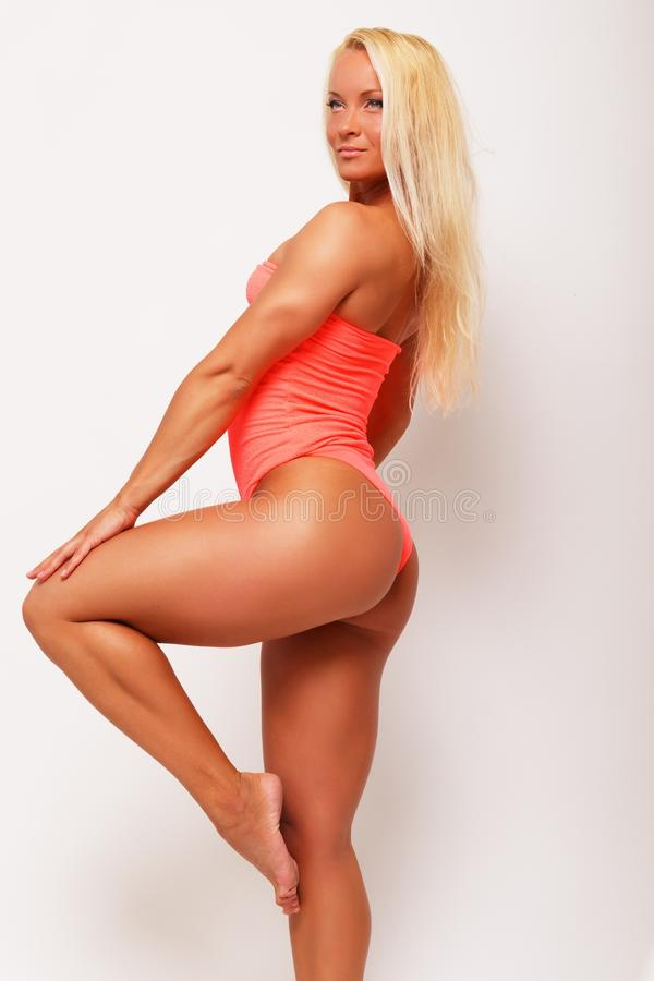 Download Sporty woman stock image. Image of bodybuilding, pose - 34645105