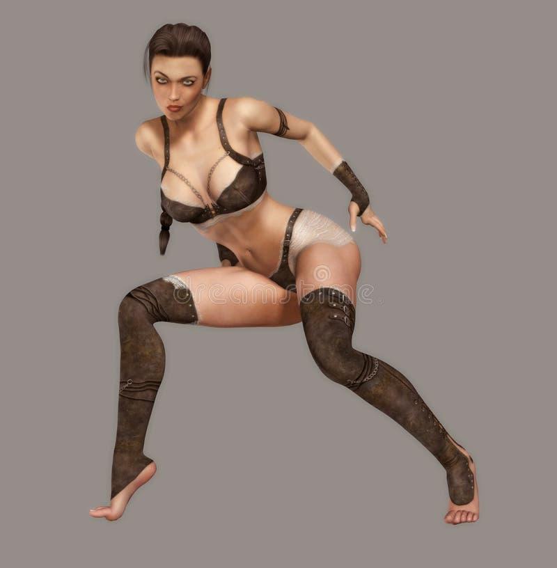 Sexy Strijder royalty-vrije illustratie