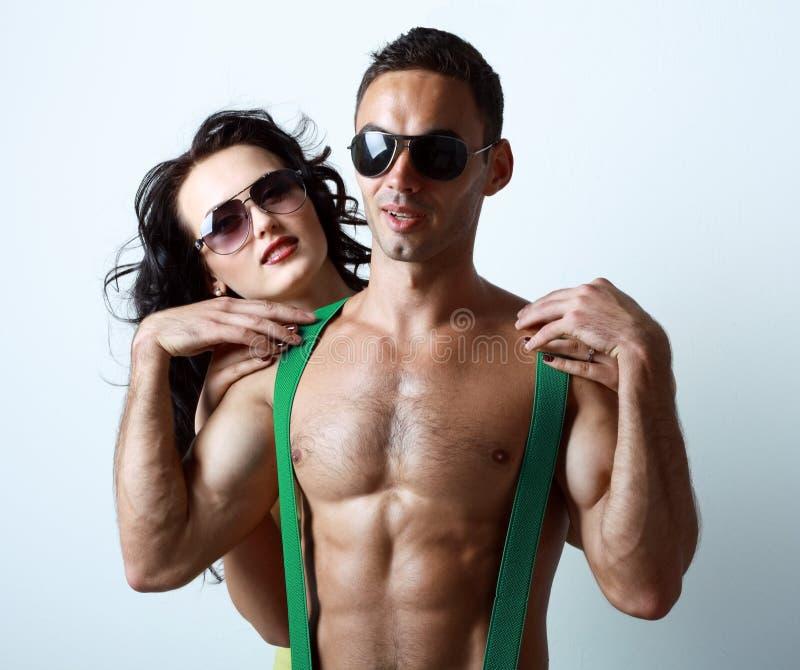 stylish young couple royalty free stock photos