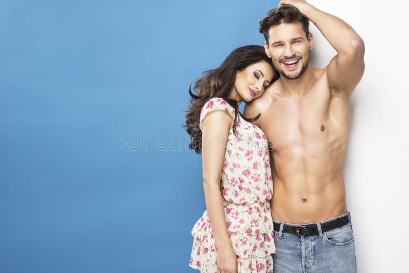 summer couple royalty free stock photo