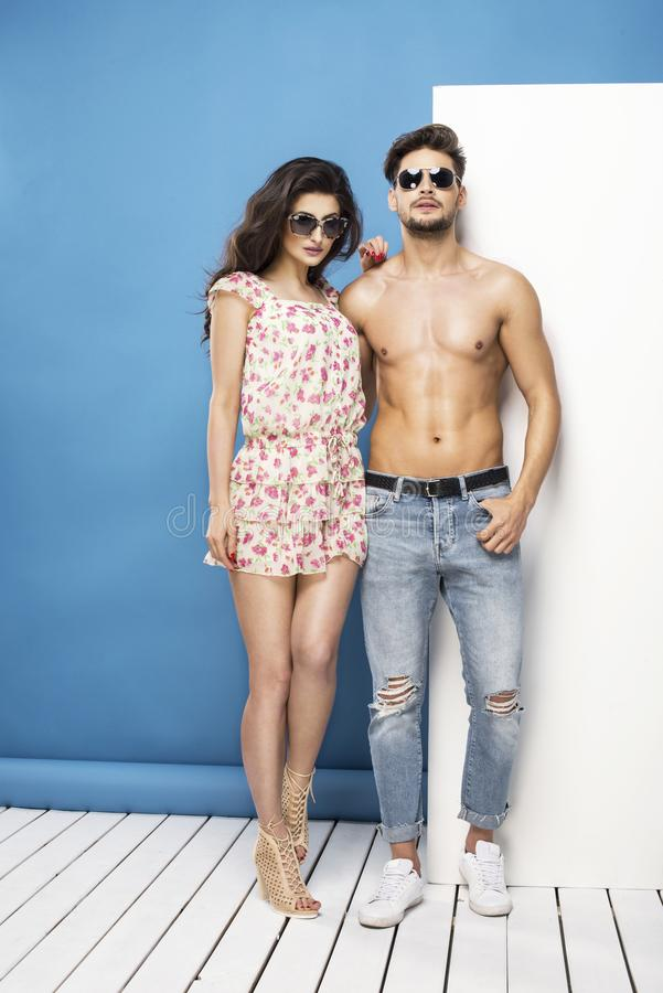 summer couple royalty free stock photography