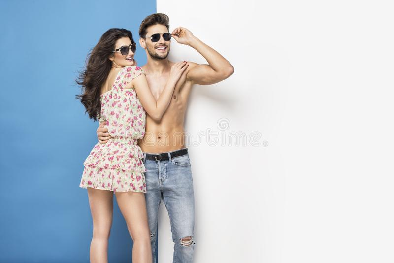 summer couple stock photo
