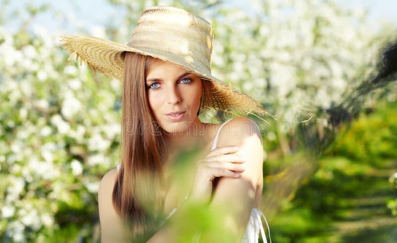 Download Summer girl stock photo. Image of foliage, bokeh, long - 24655578