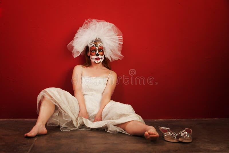 Sexy sur Dia de Los Muertos images libres de droits