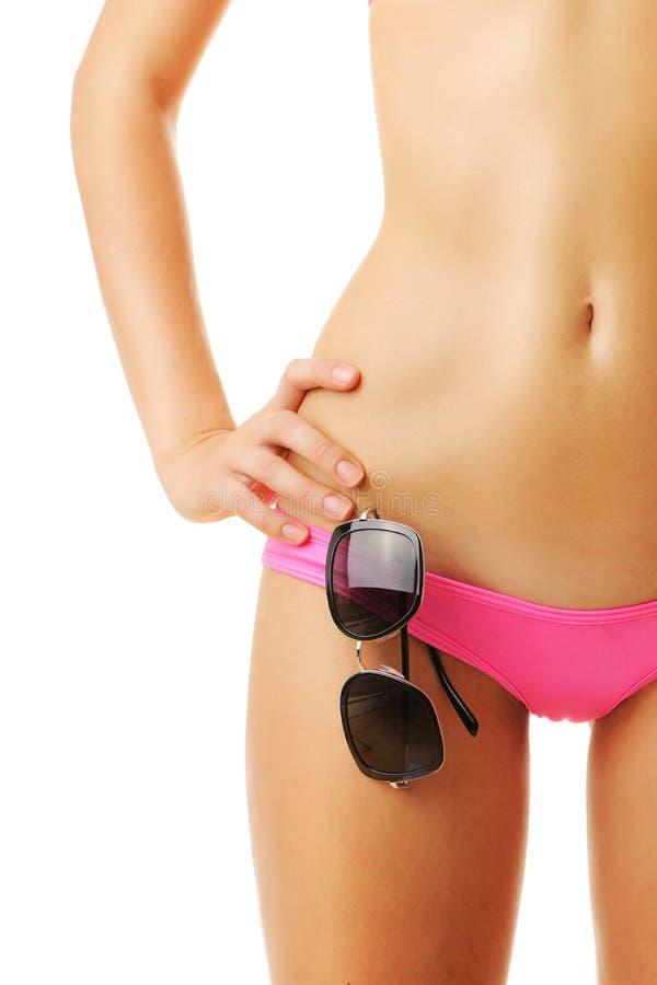 Tan Woman In Bikini Close-up Royalty Free Stock Photo