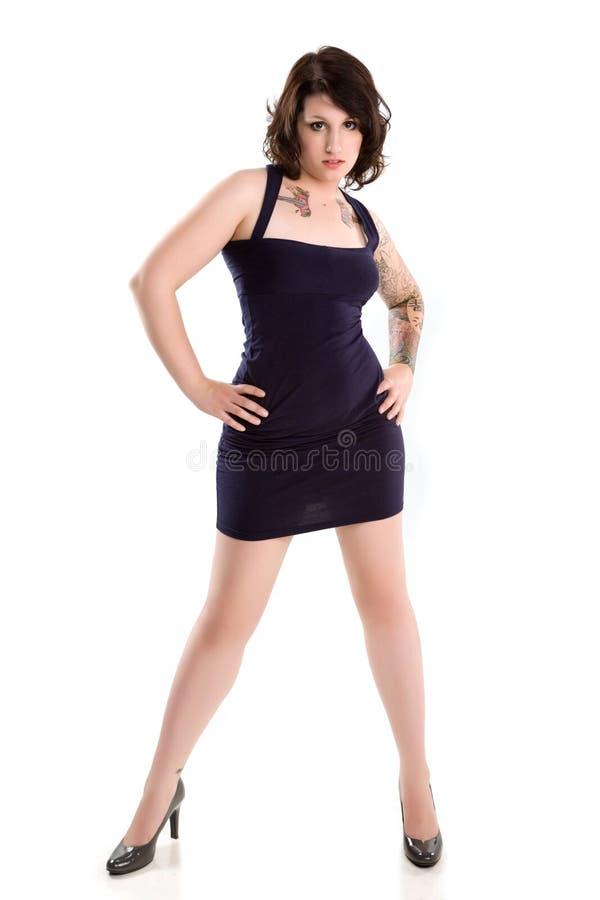 tattoo girl stock photography