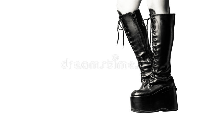 Download Thigh-high lace-up stock image. Image of side, shoe, rockstar - 83724505