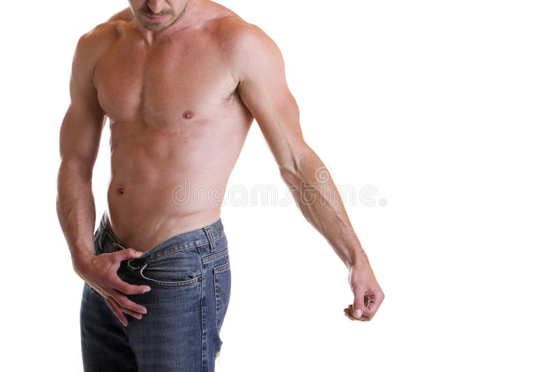 Upper body. Torso of a male and muscular naked upper body stock photos