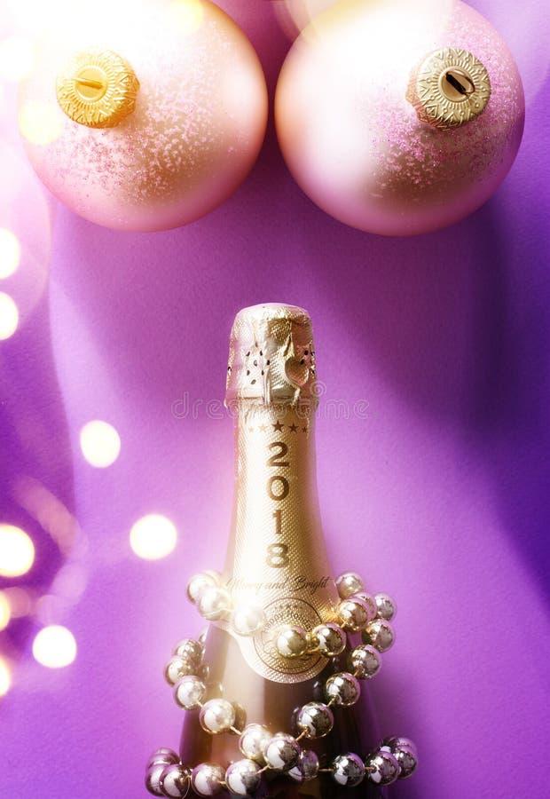 Sexy vakantiepartij; Kerstmis van 2018 en nieuwe jaarpartij; royalty-vrije stock afbeeldingen