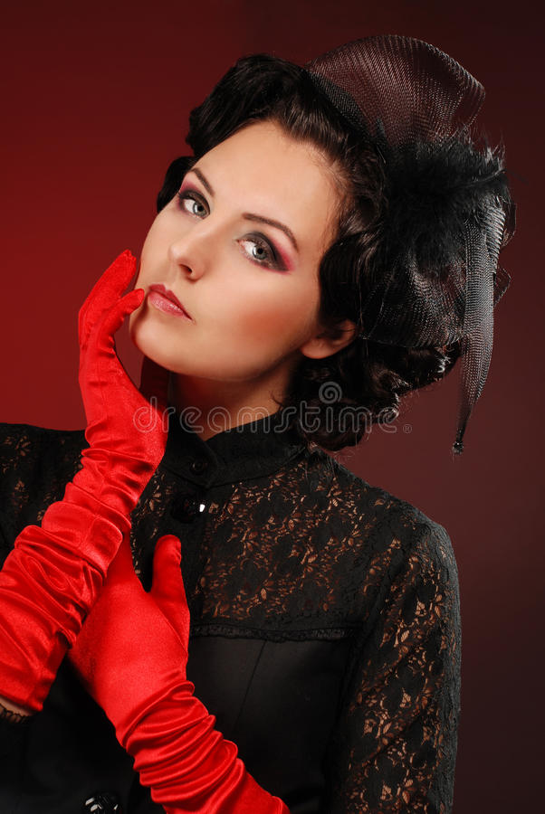 Download Vamp woman stock image. Image of adult, beautiful, feather - 25730775