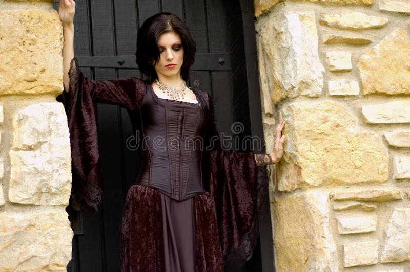 Download Vampire woman stock photo. Image of people, black, girl - 12967370
