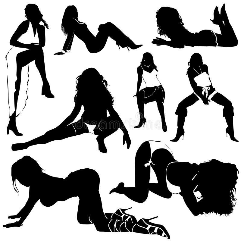 sexy vector women ελεύθερη απεικόνιση δικαιώματος
