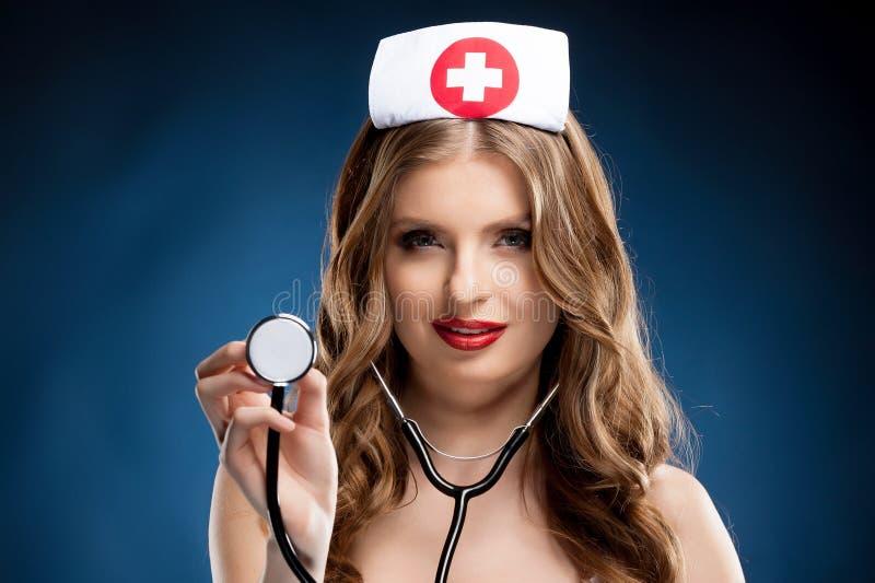 Sexy verpleegster. royalty-vrije stock afbeeldingen