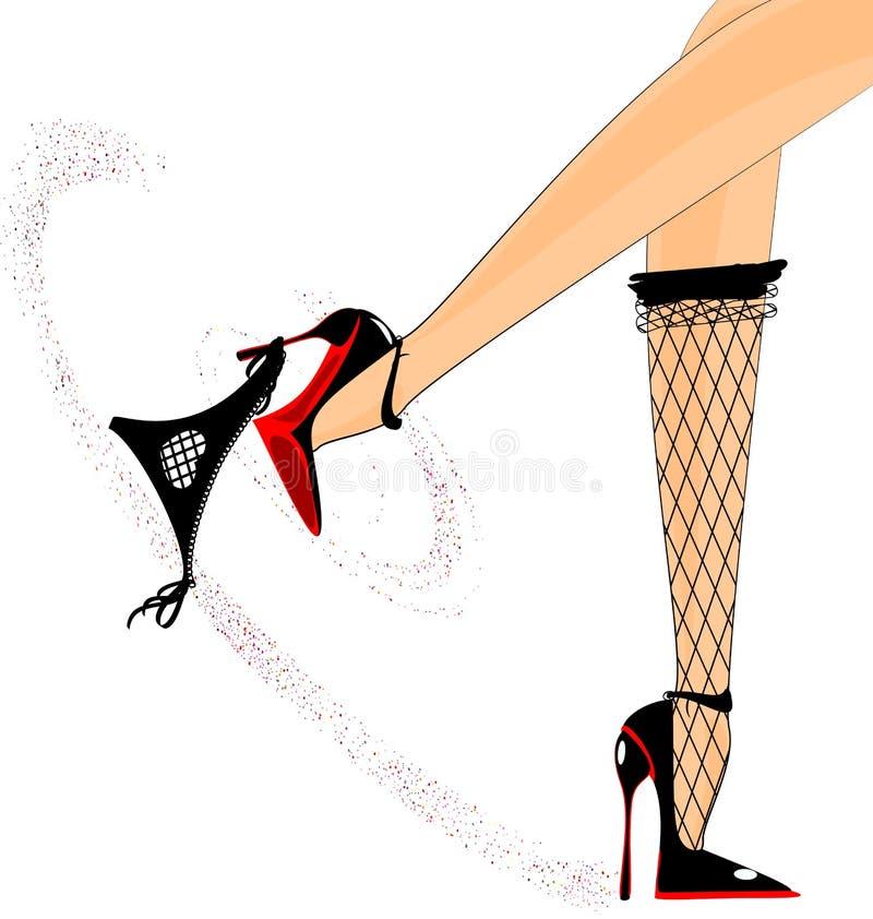 sexy voeten royalty-vrije illustratie