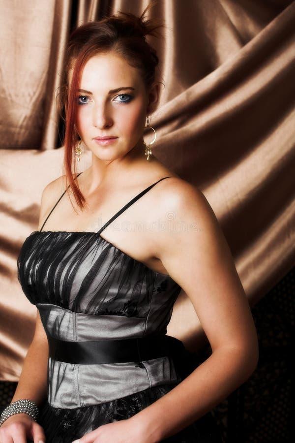 Sexy volwassen vrouw royalty-vrije stock afbeeldingen