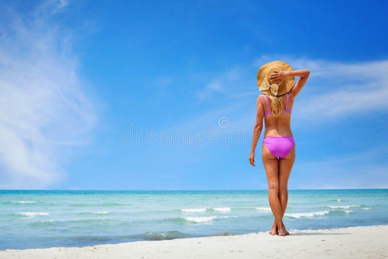 Sexy Vrouw in Bikini royalty-vrije stock foto