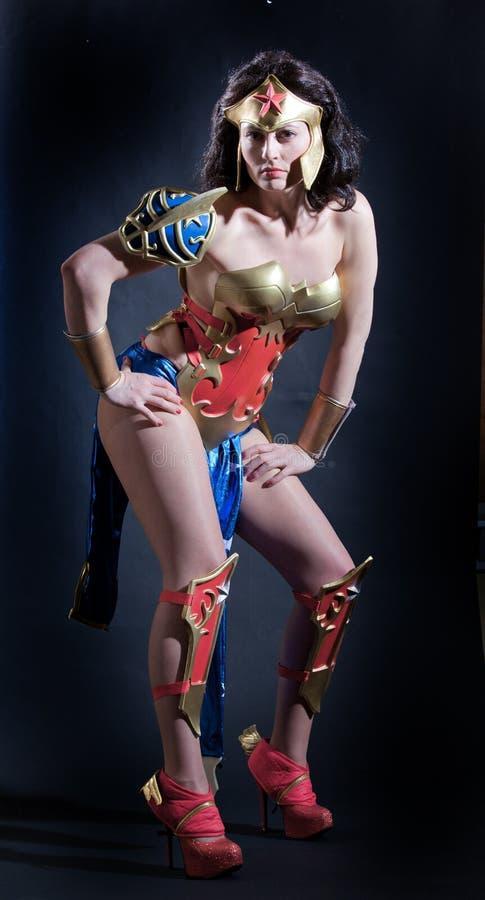 Sexy vrouw in Halloween royalty-vrije stock foto's