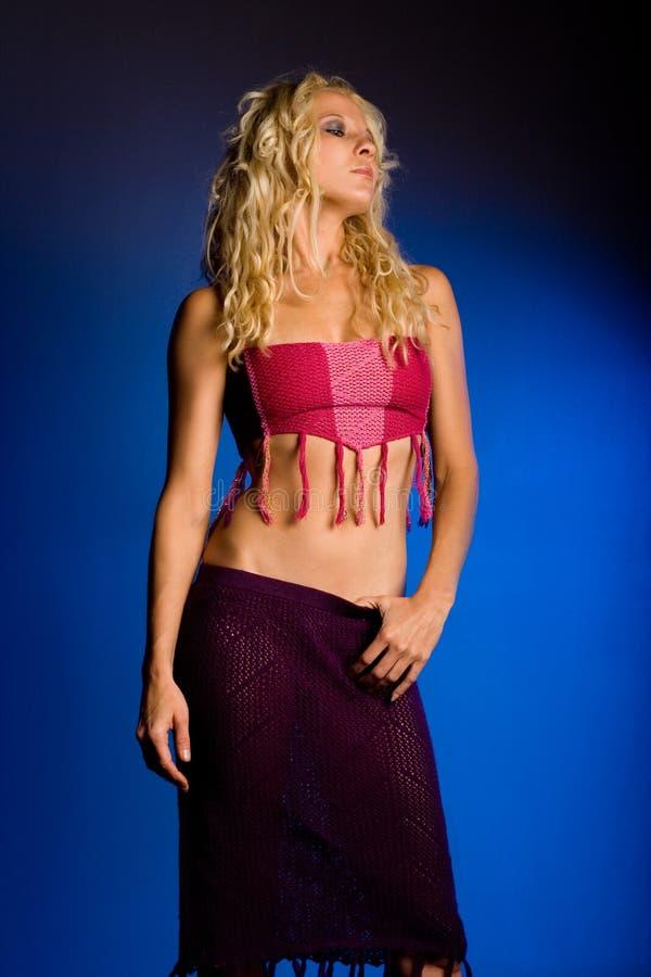 Sexy vrouw met blond haar royalty-vrije stock afbeelding