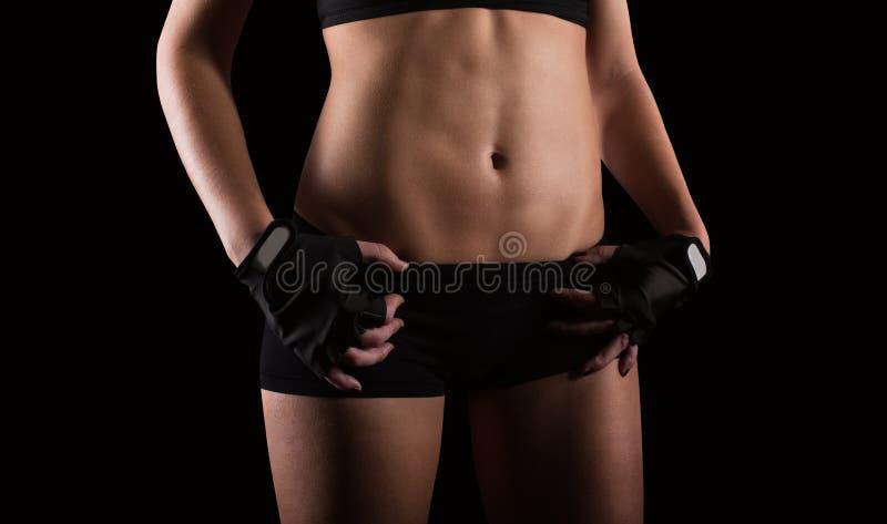 Sexy vrouw na training royalty-vrije stock foto's
