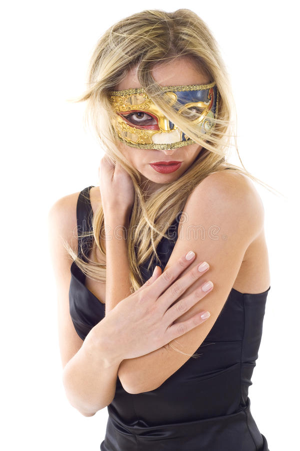 Sexy vrouw in partijmasker royalty-vrije stock afbeelding