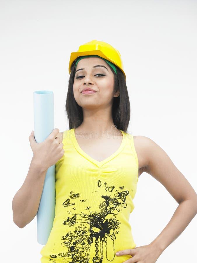 Sexy vrouwelijke bouwvakker royalty-vrije stock foto