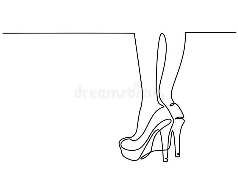 Sexy vrouwenbenen in hoge hielenschoenen royalty-vrije illustratie