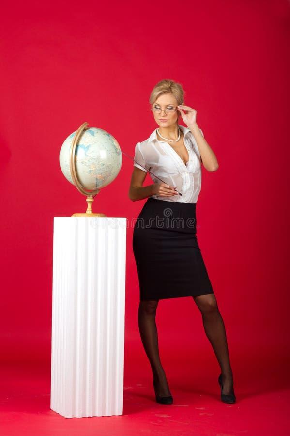 Sexy vrouwenleraar royalty-vrije stock foto