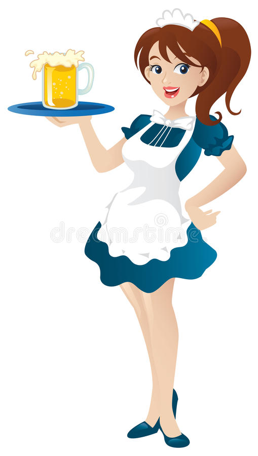 Waitress royalty free illustration