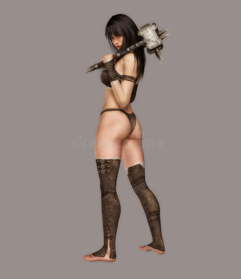 Download Warrior stock illustration. Illustration of pretty, pose - 11442384