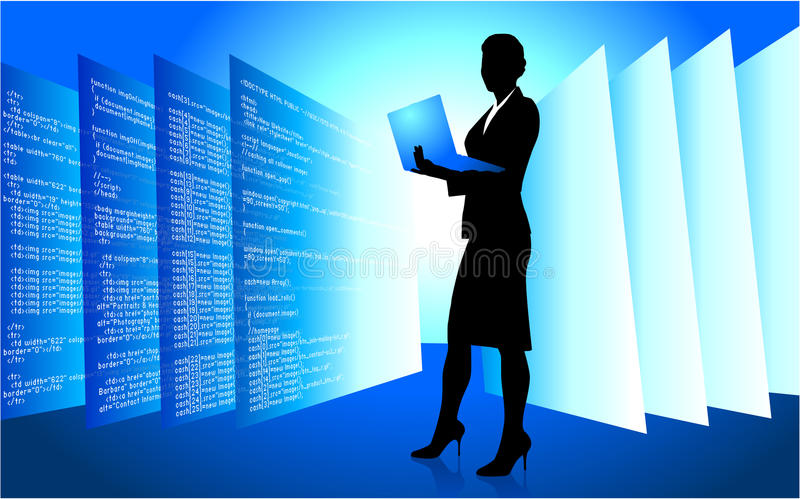 Web Developer Wireless Internet Background Stock Photos