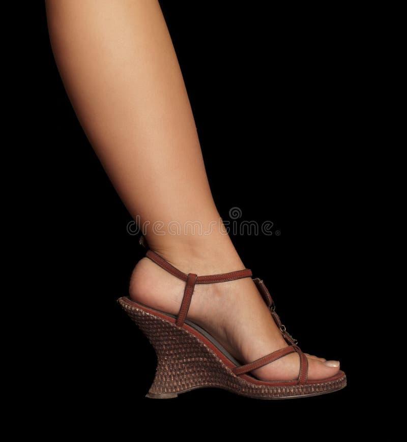wedge heel shoe royalty free stock photography
