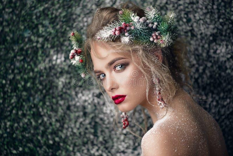 Sexy Weihnachtsblick lizenzfreies stockbild